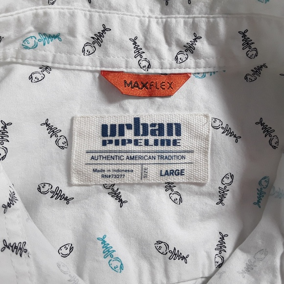 Urban Outfitters Other - Urban Pipeline Fish Bones Button Up Shirt Fishing